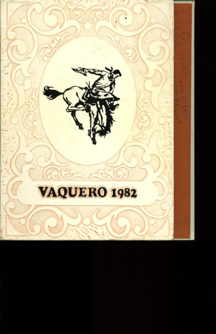 1982 Chaparral High School Yearbook Cover