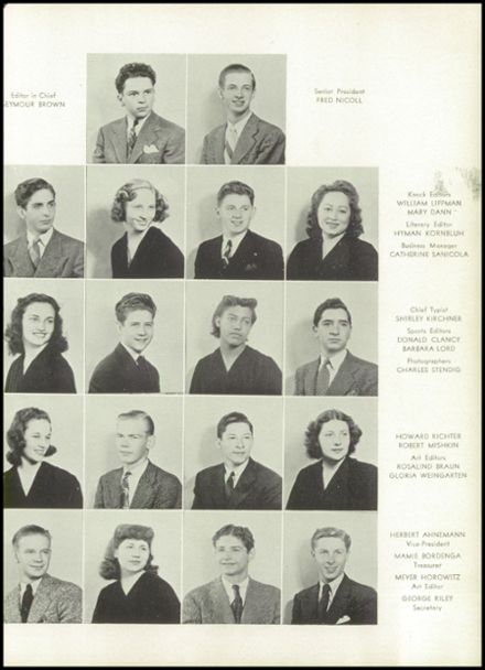 1942 Franklin K. Lane High School Yearbook Page 9