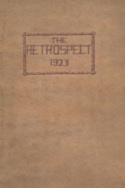 1923 Bluffton High School Yearbook Cover