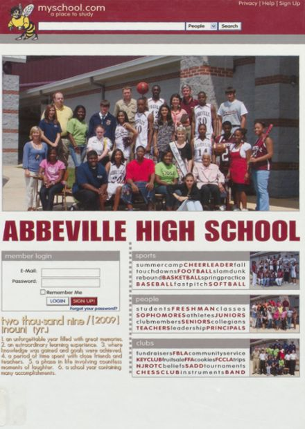 2009 Abbeville High School Yearbook Cover