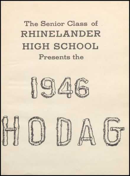 1946 Rhinelander High School Yearbook Page 5