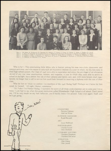 1946 Rhinelander High School Yearbook Page 8