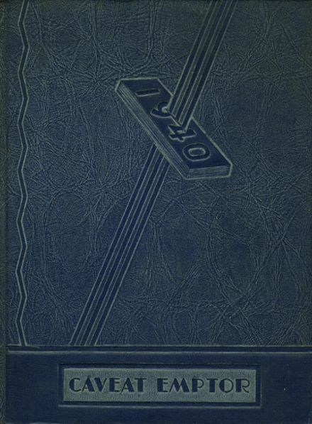 1940 Boys High School Yearbook Cover