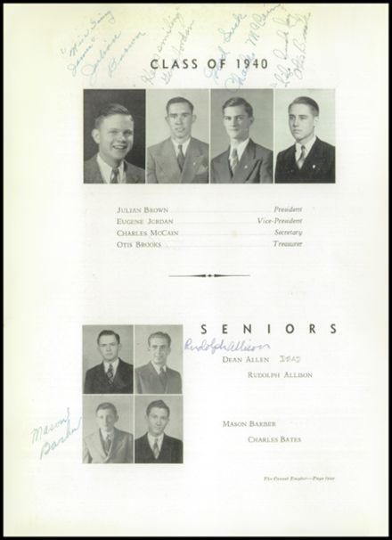 1940 Boys High School Yearbook Page 8