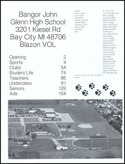 1995 John Glenn High School Yearbook Page 5