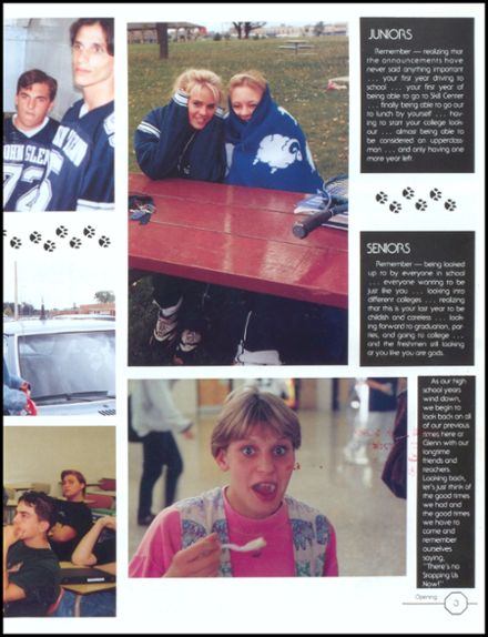 1995 John Glenn High School Yearbook Page 7