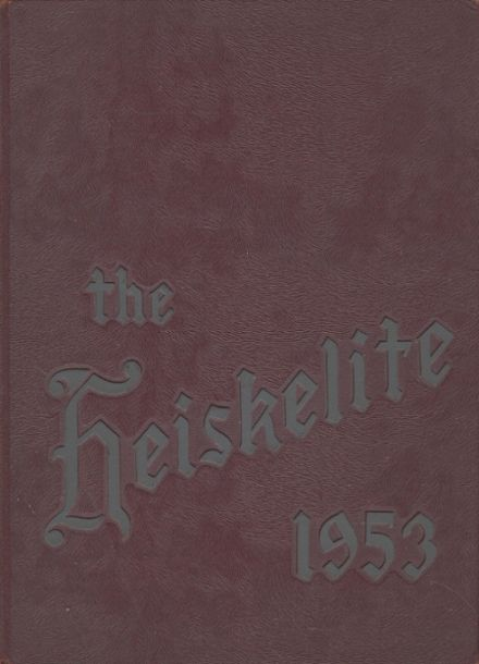 1953 Hagerstown High School Yearbook Cover