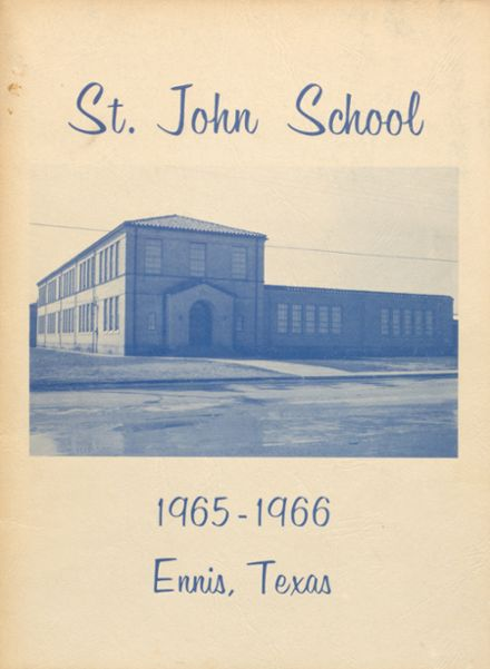 1966 St. John's High School Yearbook Cover