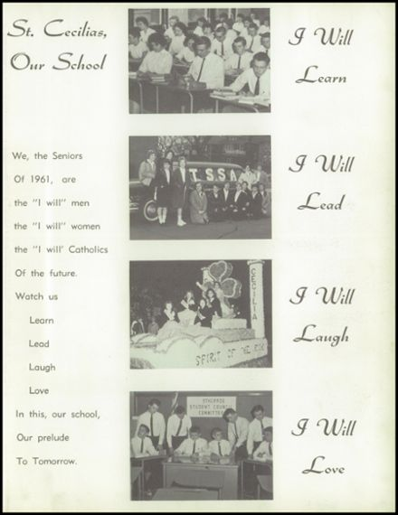 1961 St. Cecilia School Yearbook Page 7