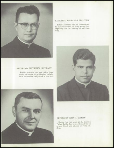1961 St. Cecilia School Yearbook Page 9