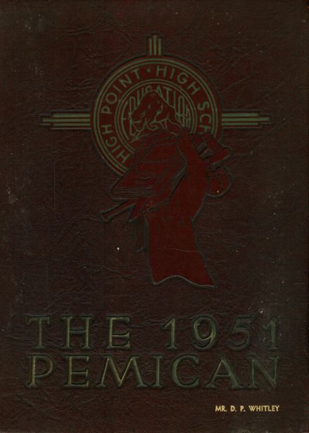 1951 High Point Central High School Yearbook Cover