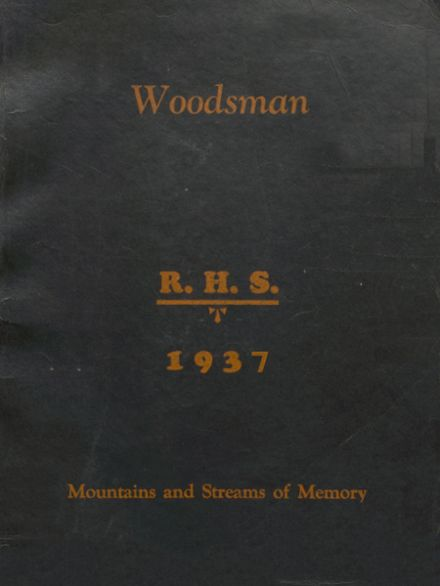 1937 Richwood High School Yearbook Cover