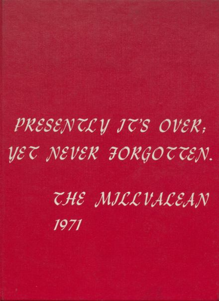 1971 Millvale High School Yearbook Cover