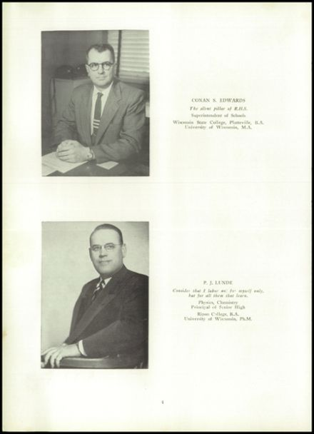 1956 Ripon High School Yearbook Page 8