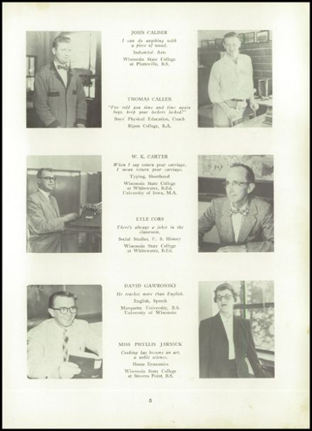 1956 Ripon High School Yearbook Page 9