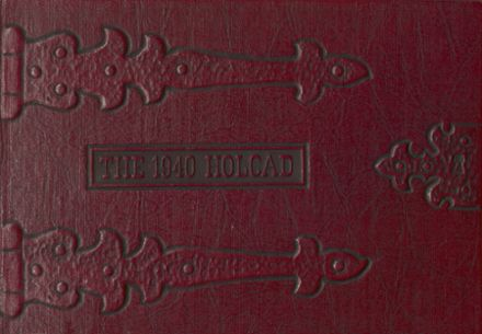 1940 Rushville Consolidated High School Yearbook Cover