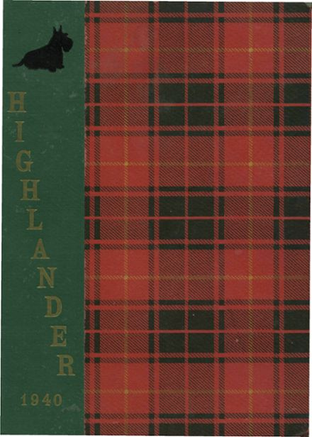 1940 Highland Park High School Yearbook Cover
