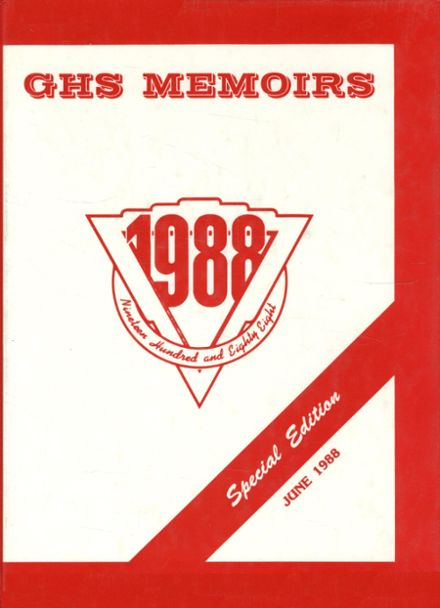 1988 Guilford High School Yearbook Cover