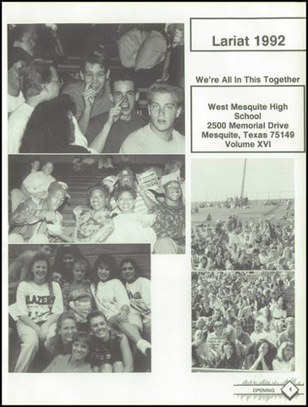 1992 West Mesquite High School Yearbook Page 5