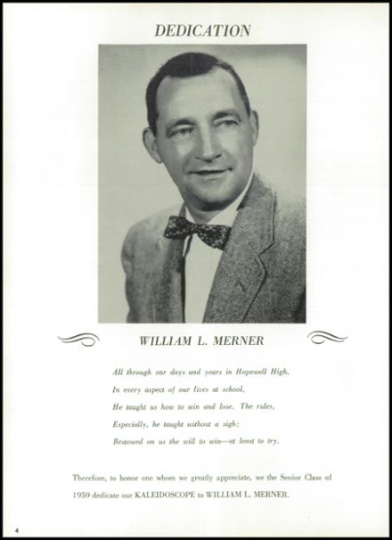 1959 Hopewell High School Yearbook Page 8