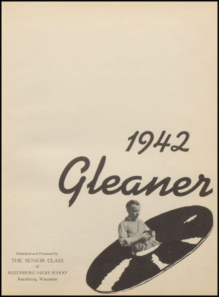 1942 Reedsburg High School Yearbook Page 5