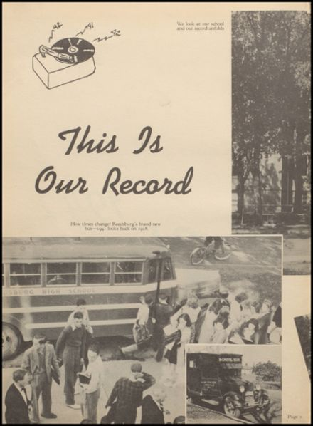 1942 Reedsburg High School Yearbook Page 6