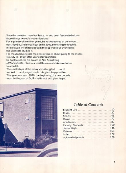 1970 Bryan High School Yearbook Page 7