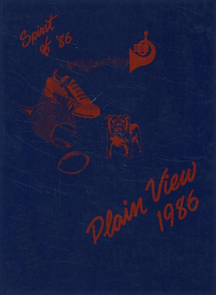 1986 Plainview High School Yearbook Cover