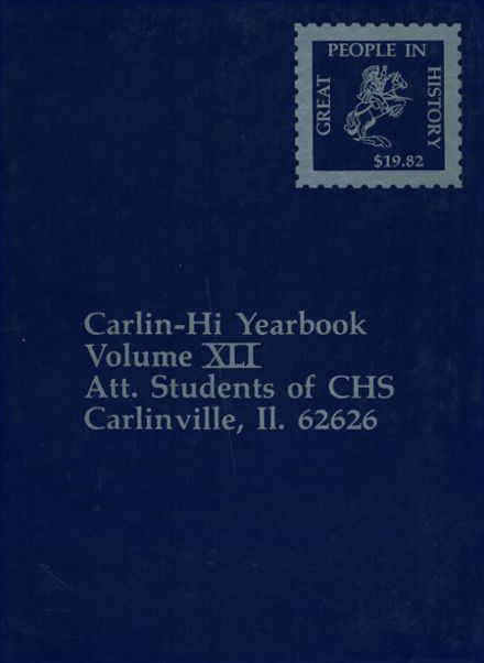 1982 Carlinville High School Yearbook Cover