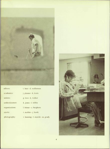 1972 Wawasee High School Yearbook Page 8