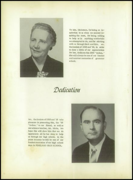 1959 Pineland High School Yearbook Page 6