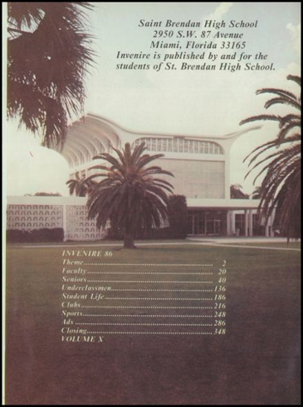 1986 St. Brendan High School Yearbook Page 5