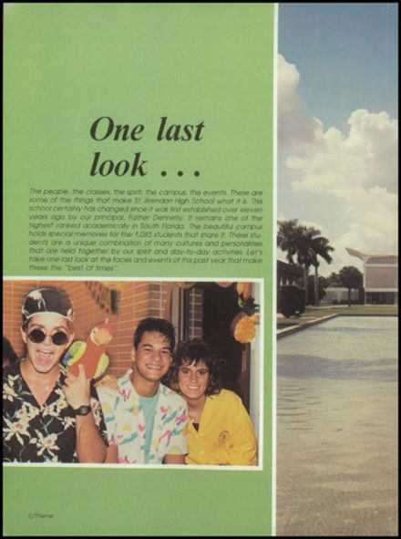 1986 St. Brendan High School Yearbook Page 6