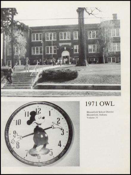 1971 Bloomfield High School Yearbook Page 5