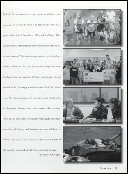 2006 Eureka High School Yearbook Page 7