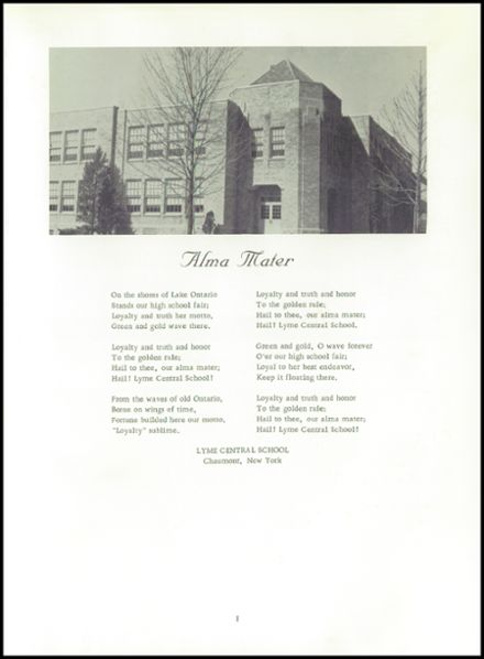 1965 Lyme Central High School Yearbook Page 5