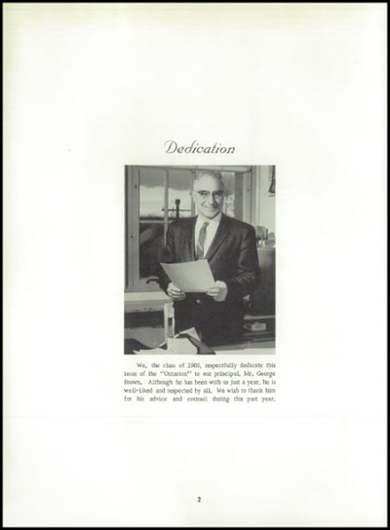 1965 Lyme Central High School Yearbook Page 6