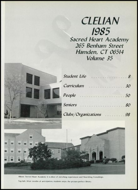 1985 Sacred Heart Academy Yearbook Page 5