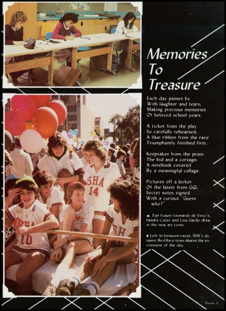 1985 Sacred Heart Academy Yearbook Page 7