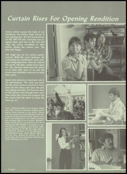 1982 Galena High School Yearbook Page 6