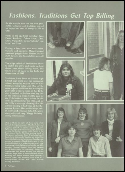 1982 Galena High School Yearbook Page 8