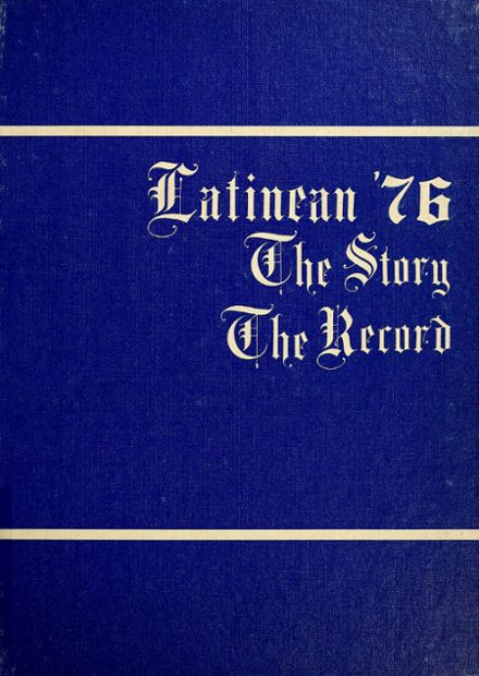 1976 Latin High School Yearbook Cover