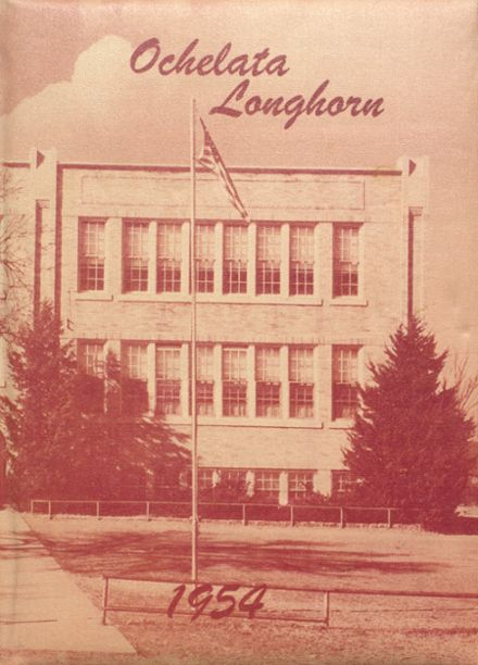 1954 Ochelata High School Yearbook Cover