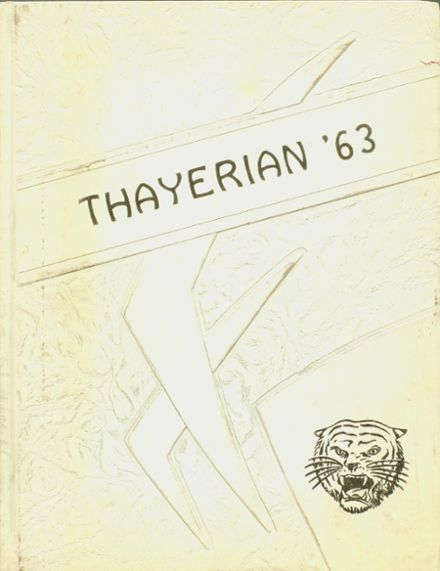 1963 Thayer High School Yearbook Cover