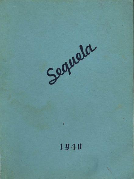 1940 People's Bible School Yearbook Cover
