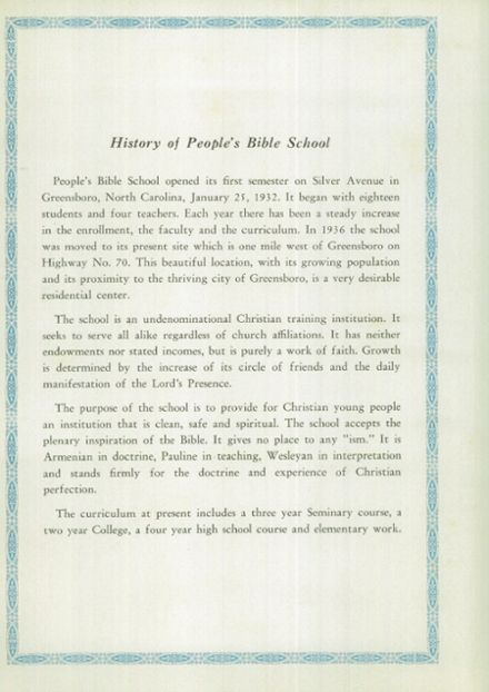 1940 People's Bible School Yearbook Page 8