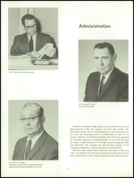 1969 Belmont High School Yearbook Page 8