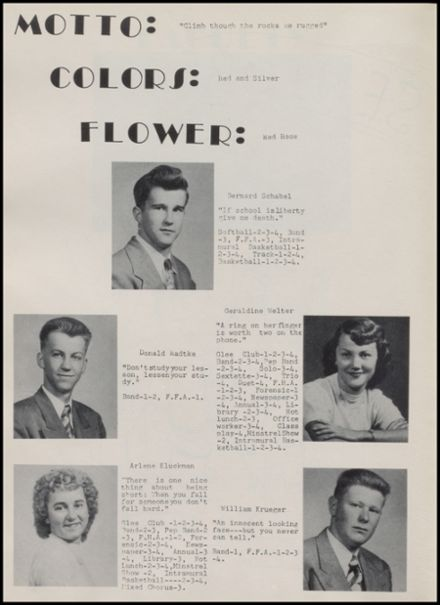 1952 Rib Lake High School Yearbook Page 8