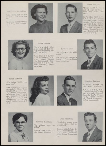 1952 Rib Lake High School Yearbook Page 9