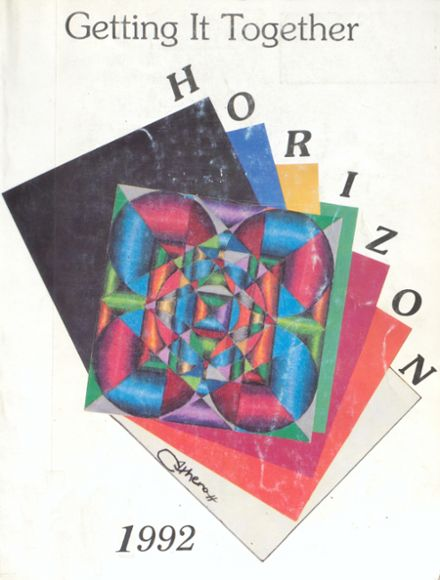 1992 Alternative Education High School Yearbook Cover